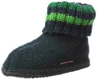 Haflinger Unisex Kids' Hüttenschuh Paul Hi-Top Slippers Green Size: 5.5UK Child