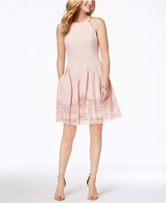 Vince Camuto Laser-Cut Fit & Flare Dress