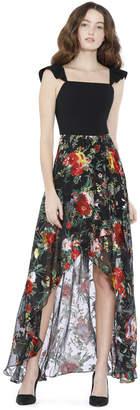 Alice + Olivia Kirstie Cascade Overlap Skirt
