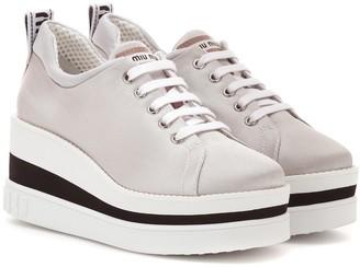 Miu Miu Neoprene platform sneakers