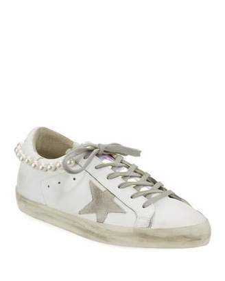 Golden Goose Superstar Pearly Necklace Sneakers
