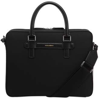 Dolce & Gabbana Nylon & Leather Messenger Bag