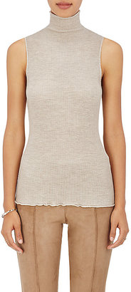 The Row Women's Brianna Mock Turtleneck Wool Shell $890 thestylecure.com