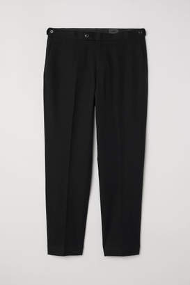 H&M Slim Fit Linen-blend Chinos - Black