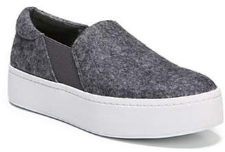 Vince Warren Felt Platform Slip-On Sneakers
