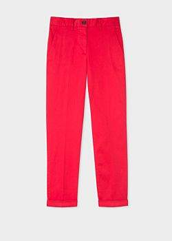 Paul Smith Women's Red Stretch-Cotton Chinos