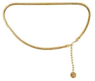 Versace Embellished Chain-Link Belt