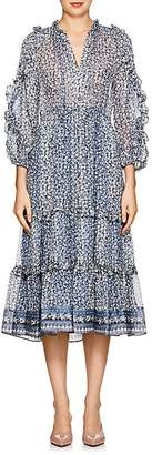 Ulla Johnson Women's Fantine Floral Silk Tiered Dress