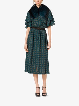 Michael Kors Foulard Silk-Georgette Shirtdress