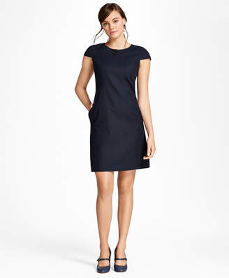 Brooks Brothers Diamond Jacquard Shift Dress