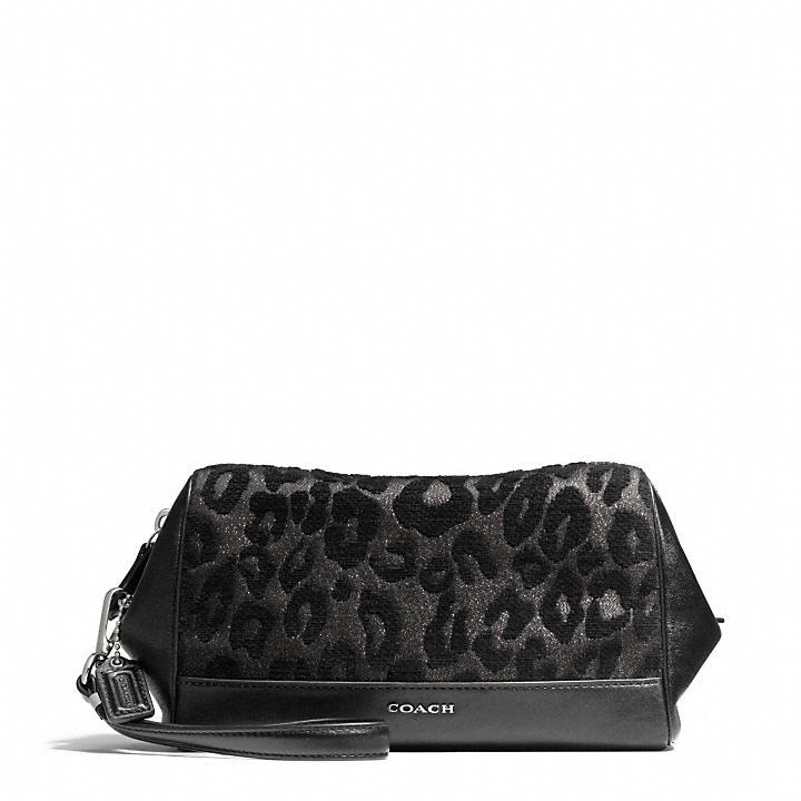Call Of The Wild Madison Large Wristlet In Chenille Ocelot