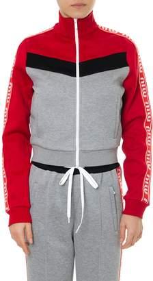 Miu Miu Colour Block Track Cropped Jacket