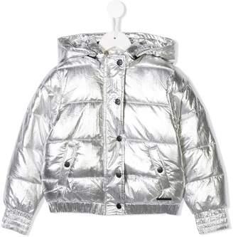 DKNY snap fastening padded jacket