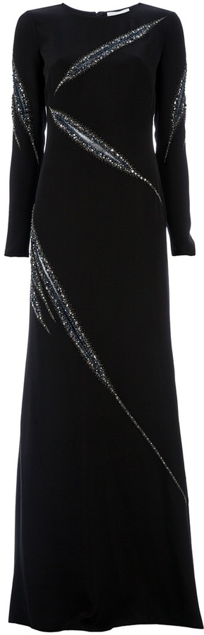 Emilio Pucci Gem embellished maxi dress