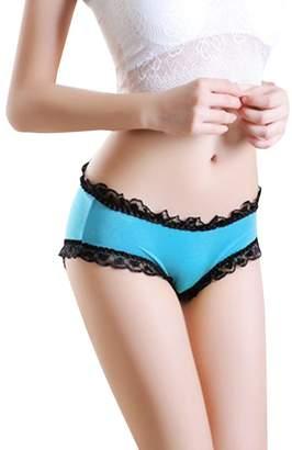 Simplicity Women's Sexy Panties Briefs Lace Knickers Lingerie Underwear,Sky Blue