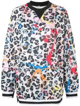 NO KA 'OI No Ka' Oi printed leopard sweatshirt