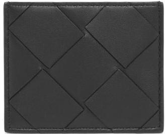 Bottega Veneta Large Intrecciato Leather Card Holder - Womens - Black
