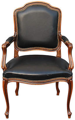 One Kings Lane Vintage French Louis XVI-Style Walnut Armchair - Something Vintage