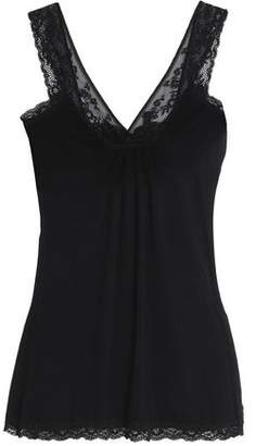 Mimi Holliday Lace-Trimmed Stretch-Knit Top