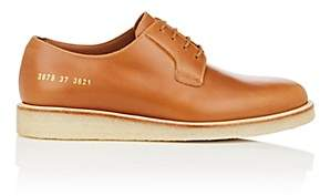 Common Projects Women's Wedge-Sole Leather Oxfords - Lt. brown