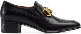 Gucci chain detail loafers