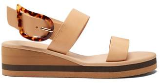 Ancient Greek Sandals Clio Rainbow Leather Wedge Sandals - Womens - Tan