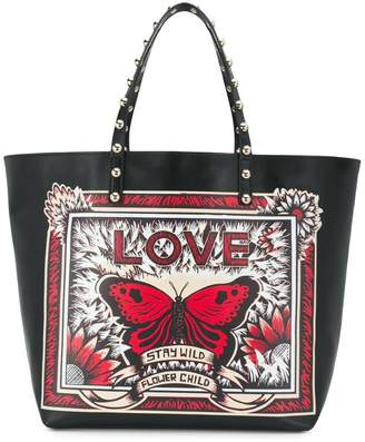 RED Valentino Stay Wild printed tote