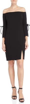 Alexia Admor Off-the-Shoulder Tie-Sleeve Dress