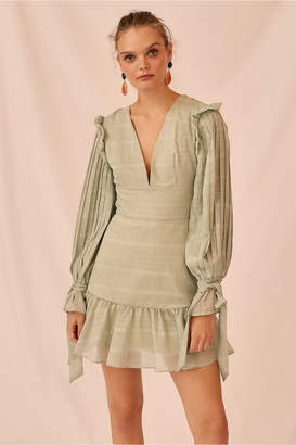 Keepsake CHARMER LONG SLEEVE MINI DRESS mint