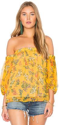 Ella Moss Poetic Garden Top in Mustard $178 thestylecure.com