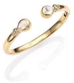 Temple St. Clair Bella Royal Blue Moonstone, Diamond& 18K Yellow Gold Bracelet