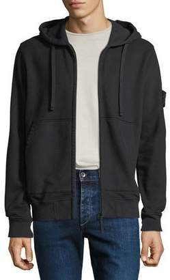 Stone Island Men's Hooded Zip-Front Sweatshirt
