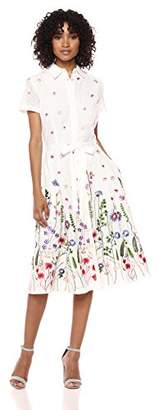 Tahari by Arthur S. Levine Women's Embroidered Eyelet Dress