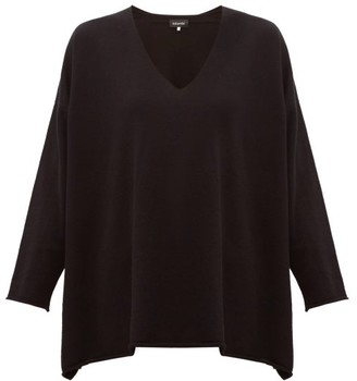 eskandar V Neck Cashmere Sweater - Womens - Black