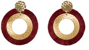 Violeta BY MANGO Fringed hoop earrings