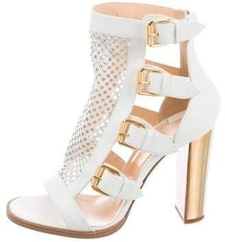 Christian Louboutin Fencing 100 Leather Sandals White Fencing 100 Leather Sandals