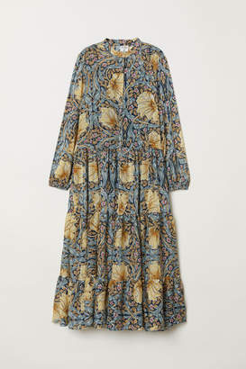 H&M Patterned Maxi Dress - Blue
