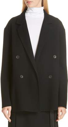 Vince Double Breasted Stretch Wool Jacket