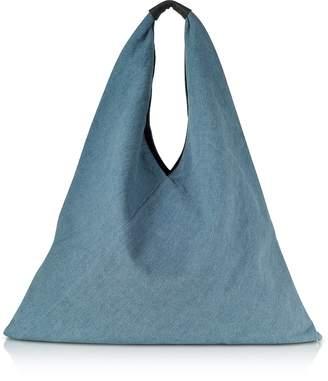 Maison Margiela Vintage-Wash Denim Japanese Tote Bag