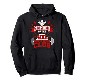 Funny Bench Press 400 Pound Powerlifting Bodybuilding Hoodie