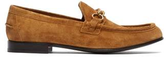 Burberry Solway Chain Suede Loafers - Mens - Brown