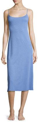 Natori Shangri-La Long Jersey Nightgown, Smoky Iris $78 thestylecure.com