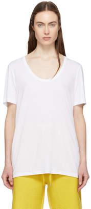 Alexander Wang White Drapey T-Shirt