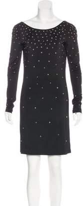 Halston Embellished Jersey Dress w/ Tags
