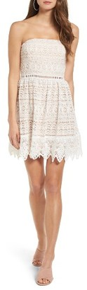 Women's Socialite Scallop Lace Strapless Dress $55 thestylecure.com