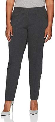 Kasper Women's Plus Size Solid Ponte Pant