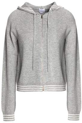 Madeleine Thompson Zip-Front Striped Mélange Wool And Cashmere Hooded Sweater