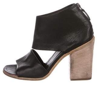 Marsèll Leather Peep-Toe Sandals