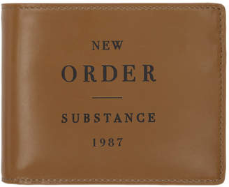 Raf Simons Brown New Order Substance Wallet