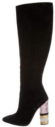 Giambattista Valli Suede Knee Boots
